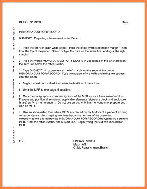 Sample Army Memo Template 8 Free Pdf Documents Download