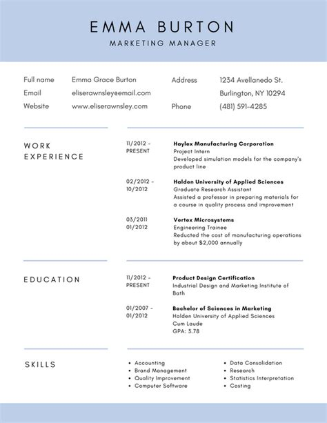 Resume For Un by Free Resume Builder Design Custom Resumes In Canva