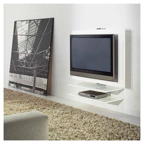 meuble tv fixe au mur giro meuble tv mural pivotant laqu 233 kendo