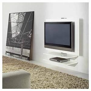 Meuble Tv Accroché Au Mur : giro meuble tv mural pivotant laqu kendo ~ Preciouscoupons.com Idées de Décoration