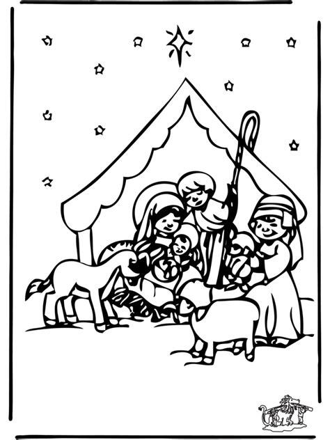 Kerststal Kleurplaat Olwassen by Kerststal 2 Bijbelkleurplaten Kerst