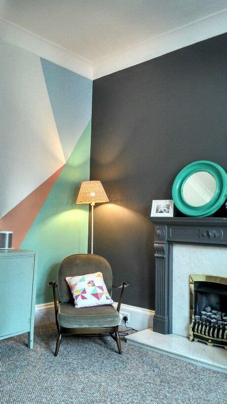 geometrische vormen aan de muur interieur inrichting