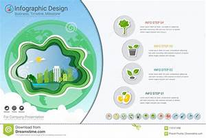 Plants Growing Timeline Infographics With Icons Set  Stock