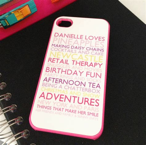 personalised iphone cover with emoticons by pickle pie personalised for i phone4 in pink by pickle pie gifts