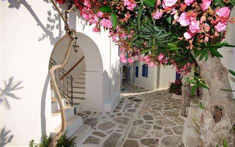 Santorini Narrow Streets Greece 2560 X 1600 Locality