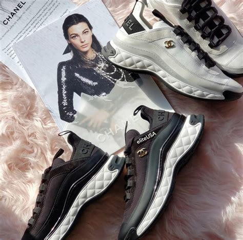 chanel sport trail sneakers  sleeker  spotted fashion