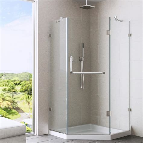 neo angle shower doors vigo piedmont 36 125 in x 76 75 in frameless neo angle