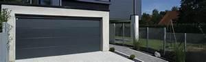 porte de garage gris anthracite une couleur moderne With couleur de porte de garage