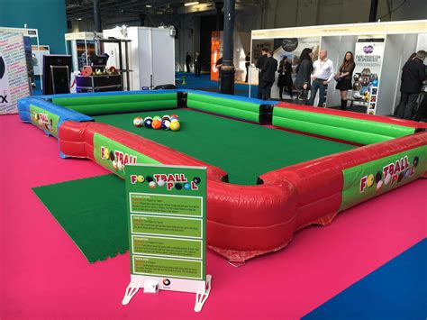 Foot Pool-inflatable Football Sized Pool Table Game Hire