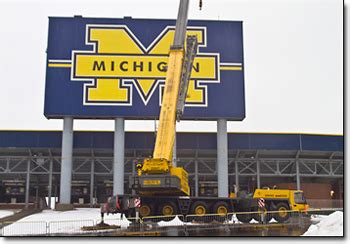 New Michigan Stadium Scoreboard