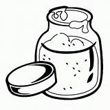 Coloring Peanut Popular Jar sketch template