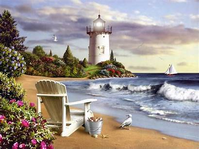 Lighthouse Desktop Lighthouses Painting Wallpapers Paintings Watercolor