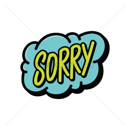 Sorry Clipart Free Sorry Stock Vectors Stockunlimited