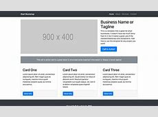 Small Business Bootstrap Marketing Website Template