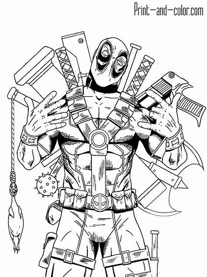 Deadpool Coloring Pages Cool