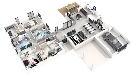 Plan De Maison 3d Plan De Maison Moderne 3d