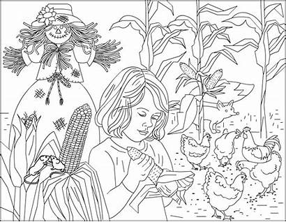 Coloring Autumn Pages Nicole Fall Vulpe Porumb