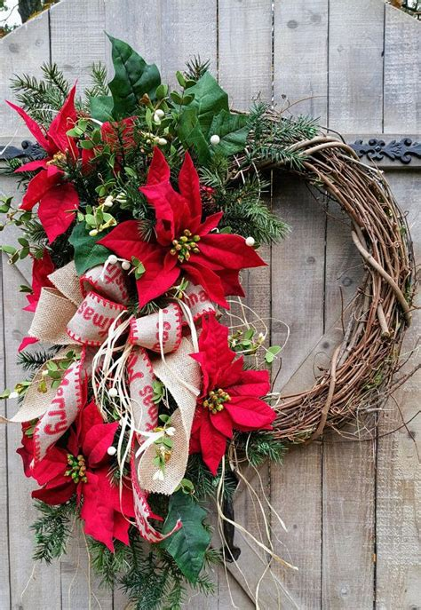unique grapevine wreath ideas  pinterest christmas