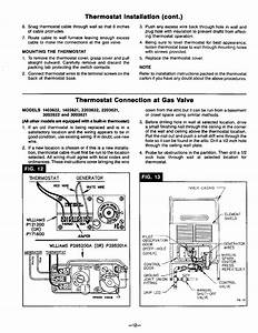 Williams Thermostat P322016 Wall Furnace Wiring Diagram