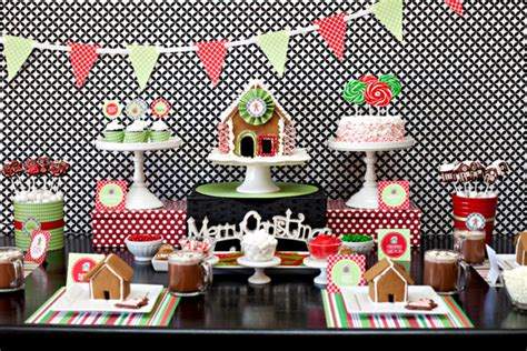 hgtv gingerbread house party  printable collection