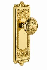 Windsor Plate With Windsor Knob Polished Brass