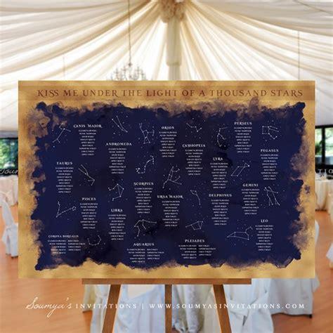 constellation starry night wedding signs decor stars
