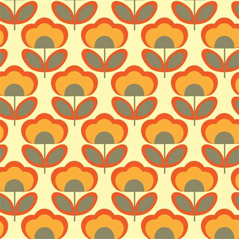 Floral Retro 70s Wallpaper Free Stock Photo Public