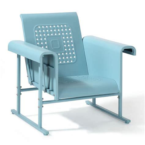 crosley veranda metal glider chair jet