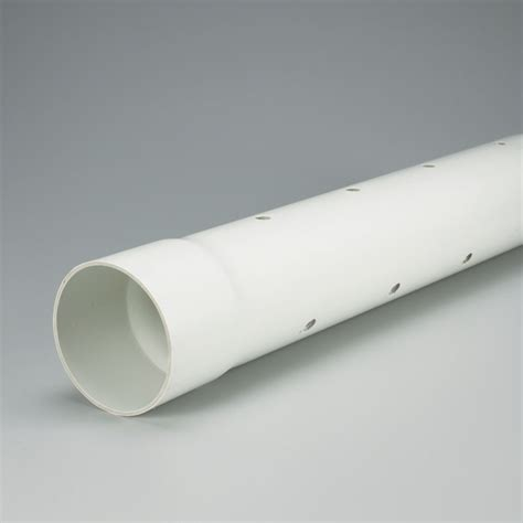 drain pipe cost ipex homerite products pvc 4 inches x 10 ft perforated sewer pipe the home depot canada