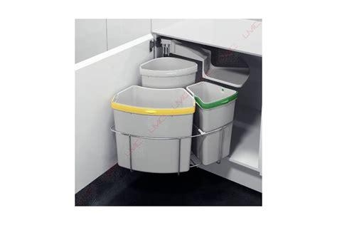 poubelle cuisine tri selectif 3 bacs poubelle rotative à tri sélectif accessoires cuisines