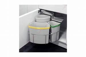 Poubelle De Tri Cuisine : poubelle rotative tri s lectif accessoires cuisines ~ Dailycaller-alerts.com Idées de Décoration