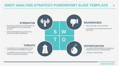 swot template powerpoint free business swot analysis powerpoint templates
