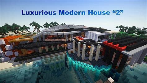 luxurious modern house minecraft building