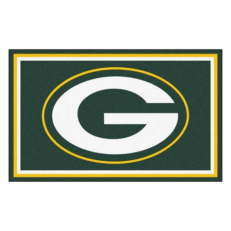 home depot green bay fanmats green bay packers 4 ft x 6 ft area rug 6577