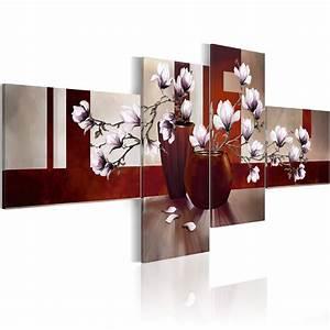 Wandbilder Xxl Mehrteilig : wandbilder xxl magnolien blumen abstrakt leinwand bilder wohnzimmer 0107 20 eur 20 61 ~ Markanthonyermac.com Haus und Dekorationen