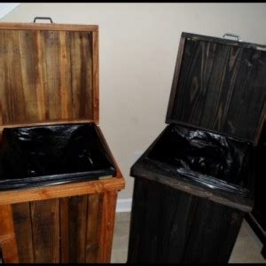gallon wood kitchen trash  aftcra
