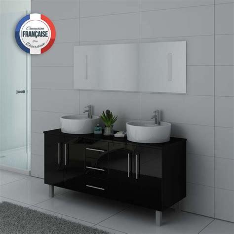 meuble de salle de bain vasque noir dis989n salledebain