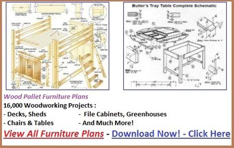 woodwork pallet furniture plans   plans