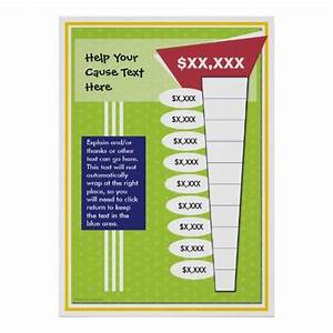 Tracking Fundraising Charts Fun And Colorful Chart Zazzle Com Goal Charts Fundraising