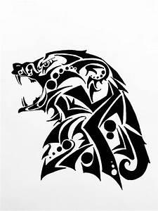 Tribal Bear Drawing