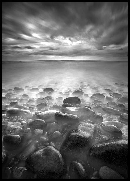 black  white waterscapes long exposure photography