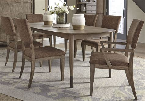 miramar dining brown oval leg dining room set  liberty