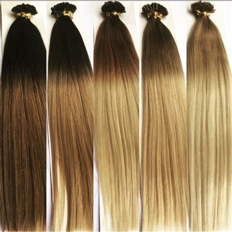 hair extensions 18 nail u tip ombre remy human hair extensions 1g mooi