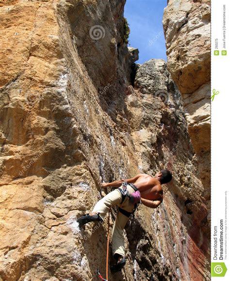 Rock Climbing Royalty Free Stock Photo Image