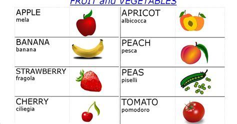 In Inglese by Mappe Per La Scuola Frutta E Vegetali In Inglese