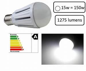 Ampoule Led E27 150w : 1 ampoule led maison e27 15w 6500k couleur blanc froid ~ Edinachiropracticcenter.com Idées de Décoration