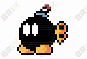 Pixel Art Bombe : bob omb pixel art brik ~ Melissatoandfro.com Idées de Décoration