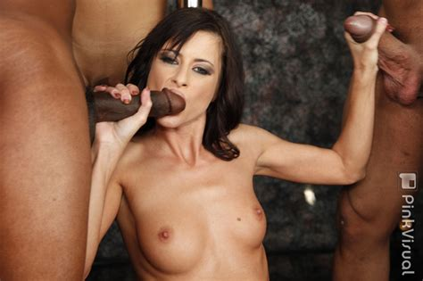 Brunette Babe Interracial Gangbang Orgy Sex With Anal Dp
