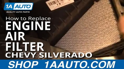 install replace engine air filter chevy silverado