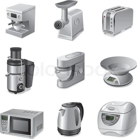 Small kitchen appliances icon set   Stock Vector   Colourbox